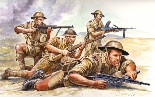 Italeri 1/72 WWII British 8th Army Soldiers (50)