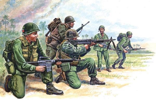 Italeri 1/72 Vietnam: US Special Forces (50)