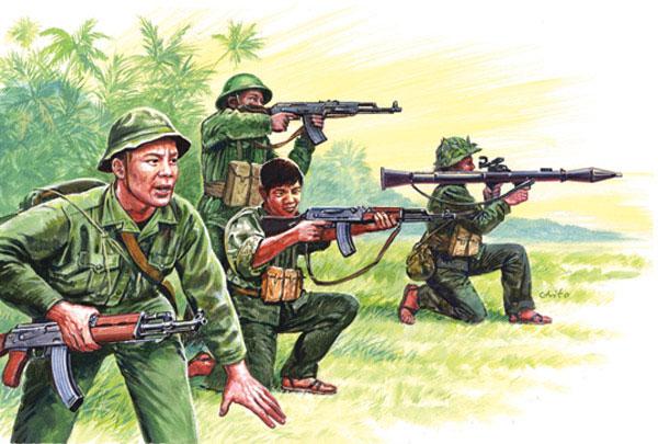 Italeri 1/72 Vietnam: Vietnamese Army/Vietcong Soldiers (50)