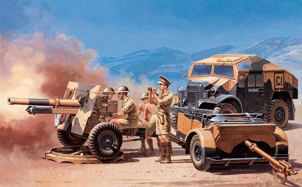 Italeri 1/72 Morris Quad Tractor w/25-Pdr Gun & 7 Figs 7027
