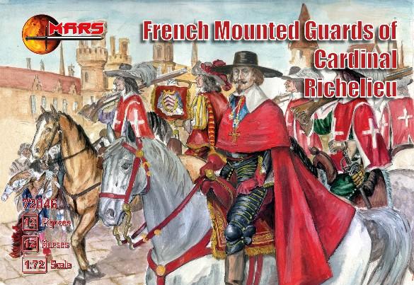 Mars Figures 1/72 French Guards of Cardinal Richelieu (12 Mtd)