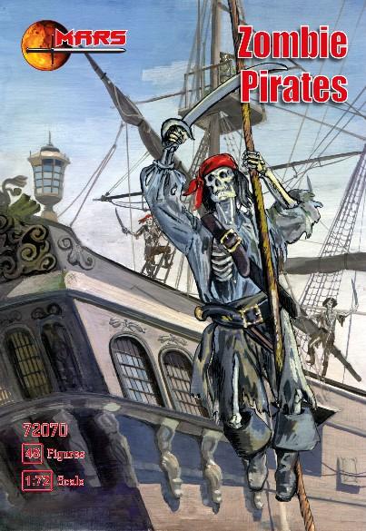 Mars Figures 1/72 Zombie (Skeleton) Pirates (48)