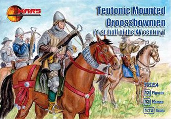 Mars Figures 1/72 1st Half XV Century Teutonic Crossbowmen (12 Mtd)