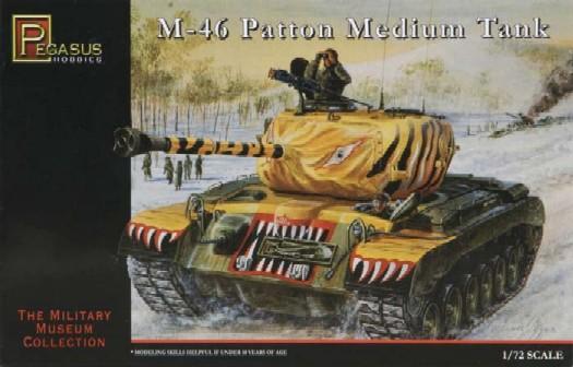 Pegasus  1/72 M46 Med Patton Korean War Tank