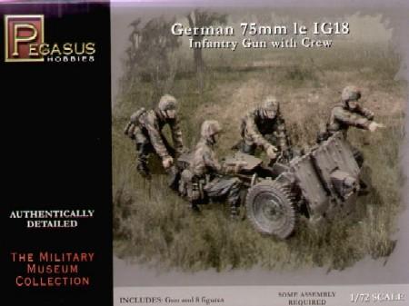 Pegasus  1/72 German 75mm le IG18 Infantry Gun