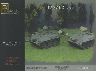 Image 0 of Pegasus  1/72 German Panzer E25 Tank (2) (Snap)