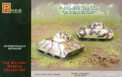Pegasus  1/72 P245-010 Jaguarundi Tank (2) (Snap)