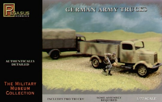 Image 0 of Pegasus  1/72 German Army Truck (2) (Snap)