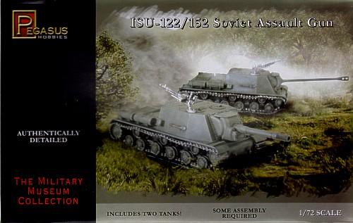 Pegasus  1/72 Soviet ISU122/152 Assault Gun Tank (2) (Snap)