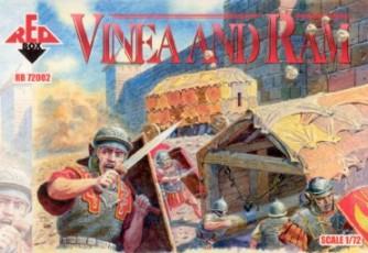 Red Box Figures  1/72 Roman Vinea Tank w/Battering Ram (2ea.)