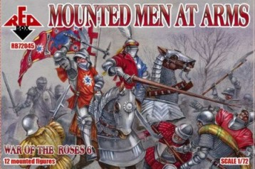Red Box Figures  1/72 War of the Roses: Mounted Men at Arms (12 Mtd)