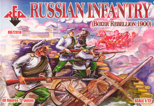 Red Box Figures  1/72 Russian Infantry Boxer Rebellion 1900 (48)