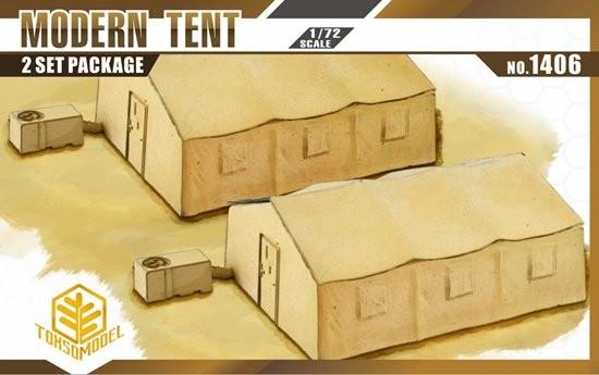 Toxso Models  1/72 Modern Tent (2) w/Heater/AC Unit