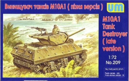 Image 0 of Unimodels Plastic Model Kit 1/72 M10A1 Late Tank Destroyer
