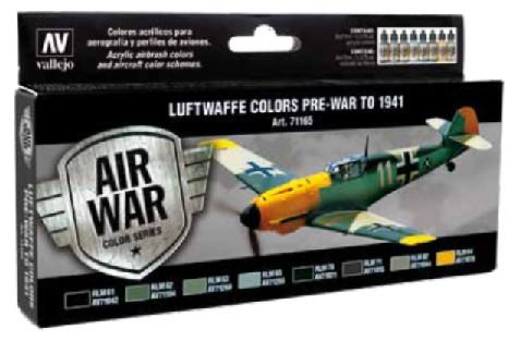 Image 0 of Vallejo Paints 17ml Bottle RLM I Model Air Paint Set (8 Colors)