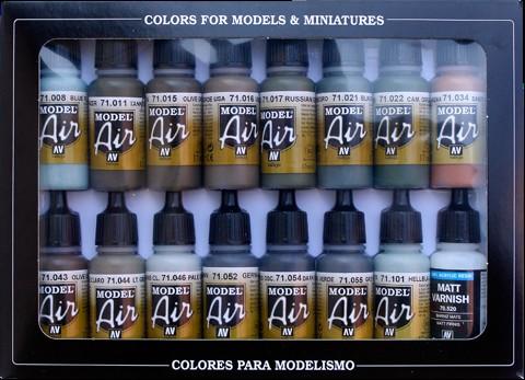 Vallejo Paints 17ml Bottle RLM Model Air Paint Set (16 Colors)