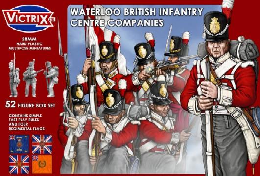 Victrix LTD Figures 28mm Waterloo British Infantry Centre Companies (52)