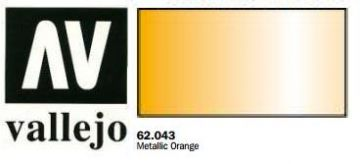 Vallejo Paints 60ml Bottle Metallic Orange Premium