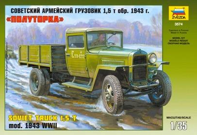 Zvezda 1/35 GAZ-MM Mod.1943 Soviet Truck