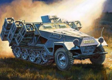 Zvezda 1/35 German Sdkfz 251/1 Ausf B Heavy Rocket Launcher