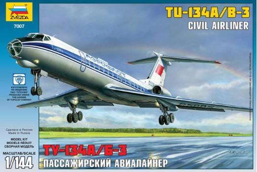 Zvezda 1/144 Tu134A/B3 Russian Civil Airliner