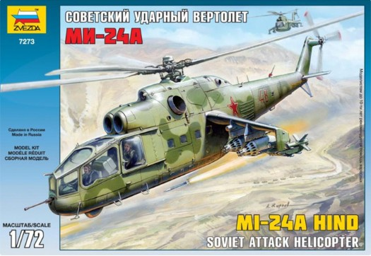Zvezda 1/72 Mi24A Hind Attack Helicopter