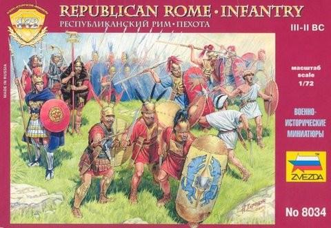 Zvezda 1/72 Republican Rome - Infantry III-II BC (40)