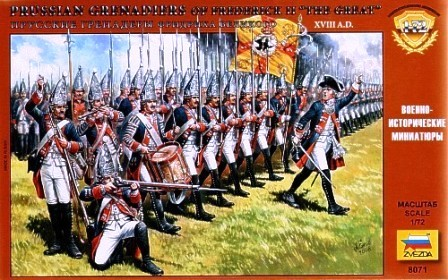 Zvezda 1/72 Prussian Grenadiers of Frederick II The Great XVIII AD (41)