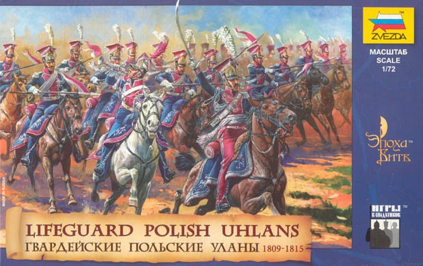 Zvezda 1/72 Lifeguard Polish Uhlans Napoleonic War 1809-15 (18 Mtd)