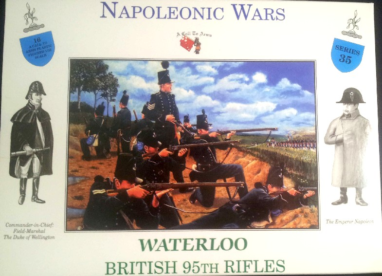 A Call To Arms Plastic 1/32 Napoleonic Wars: Waterloo British 95th Rifles