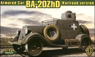 Image 0 of Ace Plastic Models 1/72 Ba20ZhD Railraod Version WWII Soviet Armored Car w/ Base