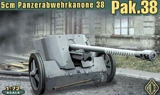 Image 0 of Ace Plastic Models 1/72 German 5cm Pak 38 WWII Gun