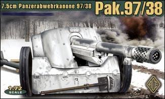 Image 0 of Ace Plastic Models 1/72 German 7.5cm Pak 97/38 WWII Gun