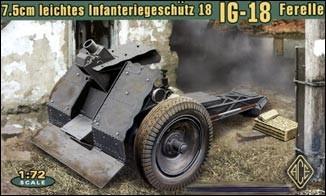 Image 0 of Ace Plastic Models 1/72 German 7.5cm Light Infantry IG18 Ferelle Gun