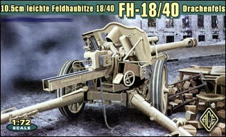 Image 0 of Ace Plastic Models 1/72 German leFh18/40 10.5cm WWII Field Howitzer