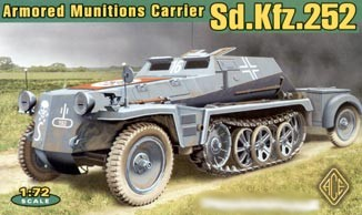 Image 0 of Ace Plastic Models 1/72 SdKfz 252 Armored Semi-Tracked Munitions Carrier