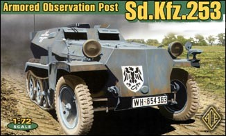 Image 0 of Ace Plastic Models 1/72 German SdKfz 253 Armored Observation Post