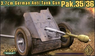 Image 0 of Ace Plastic Models 1/72 German 3.7cm Pak 35/36 Anti-Tank Gun