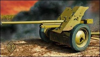 Image 0 of Ace Plastic Models 1/72 Soviet 45mm Anti-Tank Gun Model 1942