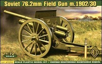 Ace Plastic Models 1/72 Soviet 76.2mm Mod. 1902/1930 Field Gun w/Limber