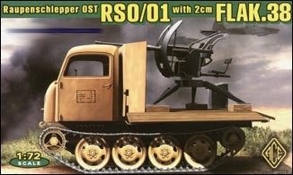 Image 0 of Ace Plastic Models 1/72 Raupenschlepper Ost (RSO) Type 1 WWII Tracked Vehicle w/