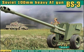 Image 0 of Ace Plastic Models 1/72 BS3 WWII Soviet 100mm Heavy Anti-Tank Gun