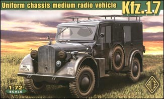 Image 0 of Ace Plastic Models 1/72 Kfz17 Uniform Chassis Medium Radio Vehicle