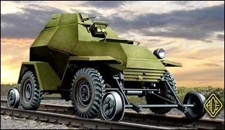 Ace Plastic Models 1/72 Soviet Ba64V/G Railroad Version Armored Car