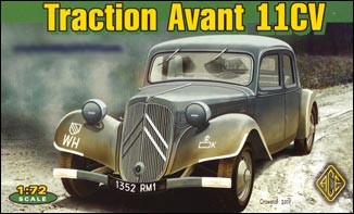 Image 0 of Ace Plastic Models 1/72 Citroen Traction Avant 11CV WWII Army Staff Car