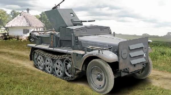 Image 0 of Ace Plastic Models 1/72 SdKfz 10 Halftrack w/3.7cm PaK 35/36 Gun