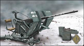 Ace Plastic Models 1/72 2cm Flak 30 WWII Artillery Gun
