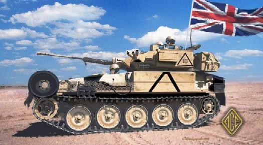 Image 0 of Ace Plastic Models 1/72 FV107 CVR Tracked Scimitar Tank w/30mm Rarden Gun