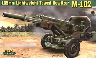 Image 0 of Ace Plastic Models 1/72 US M102 105mm Lightweight Towed Howiter Gun