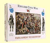 A Call To Arms Plastic 1/32 English Civil War: Parliament Musketeers (16)